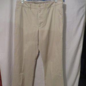 Banana Republic Beige Flat Front Pants, Sz. 36/34